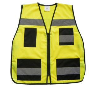 Reflective Safety Vest with Pocket